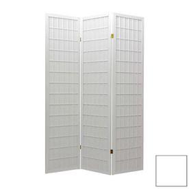 Oriental Furniture Window Pane 6 Panel White Folding Indoor Privacy Screen