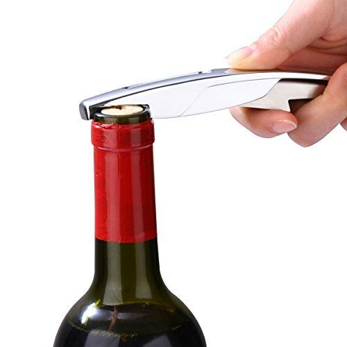 A stainless steel wine bottle opener and a food grade silicone preservation device: 1.Don't use this corkscrew for carbonated drinks;…
