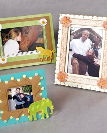 Children can use our frame templates to create these easy standing cardboard picture frames.