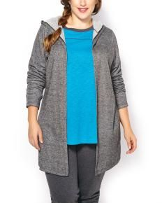 ActiveZone Weekend Collection Plus-Size Hooded Cardigan
