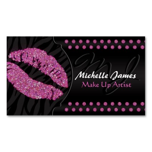 Modern Sparkling Zebra Monogram Make Up Artist Business Cards. This is a fully customizable business card and available on several paper types for your needs. You can upload your own image or use the image as is. Just click this template to get started!