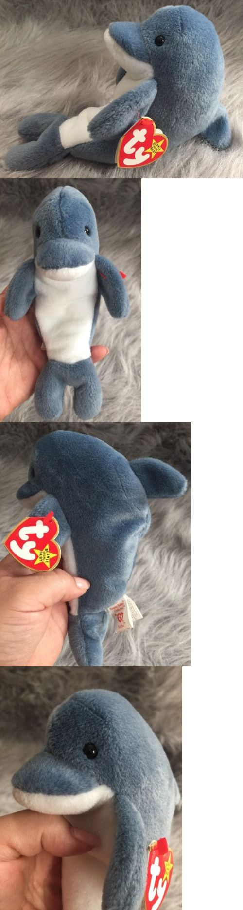 Retired 440: Rare Ty Original Beanie Babies Echo The Dolphin-With Waves The Whale Tags -> BUY IT NOW ONLY: $239.5 on eBay!