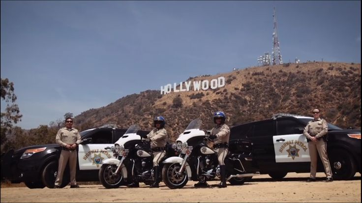 California Highway Patrol. Hollywood Sign.