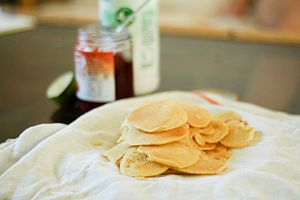 How to make pikelets? Here are 8 steps. Follow me step by step.