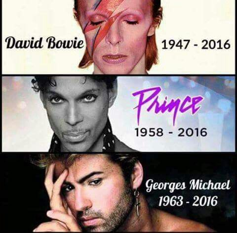 2016 ... The Year The Music Died.