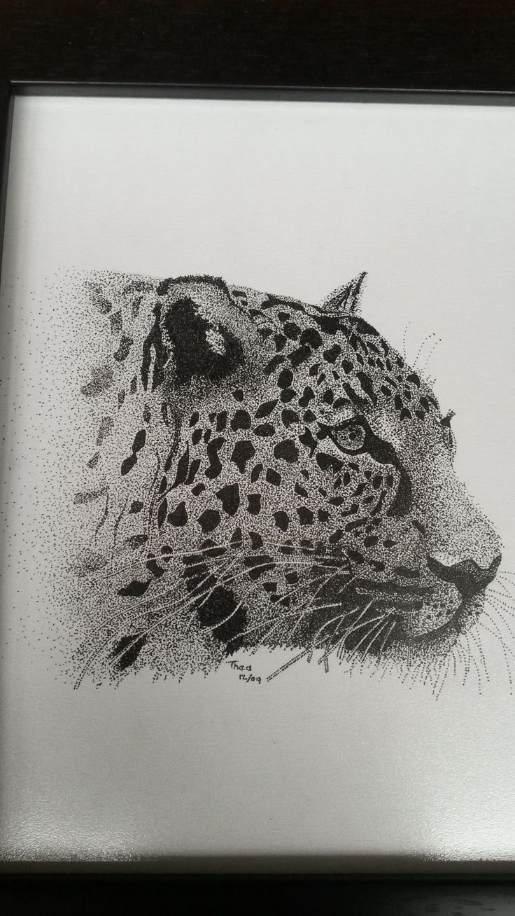 Art - Pointillism Creating art drawings just  using dots - by Thea Loots