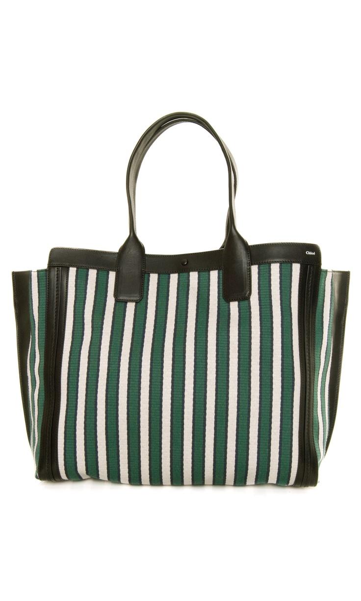 Chloé - The Alison Striped Tote #Bag