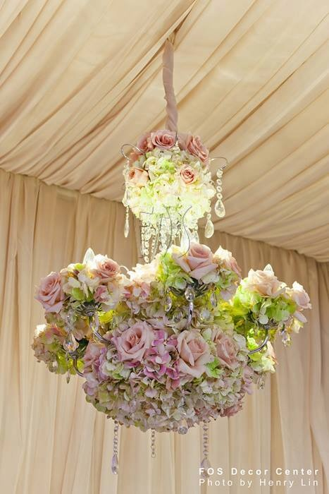 141 best images about Floral Chandeliers and Hanging ...