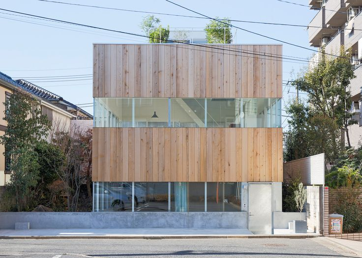 elding oscarsons tokyo house features slices of glazing - Japanese Architecture Small Houses