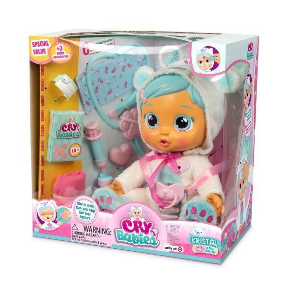 Cry Babies Kristal Gets Sick Feels Better Interactive Baby Dolls Interactive Baby Baby Dolls For Kids