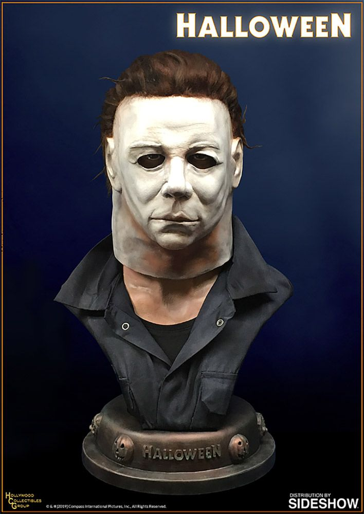 Halloween 2020 Michael Lives Michael Myers Life Size Bust by Hollywood Collectibles Group