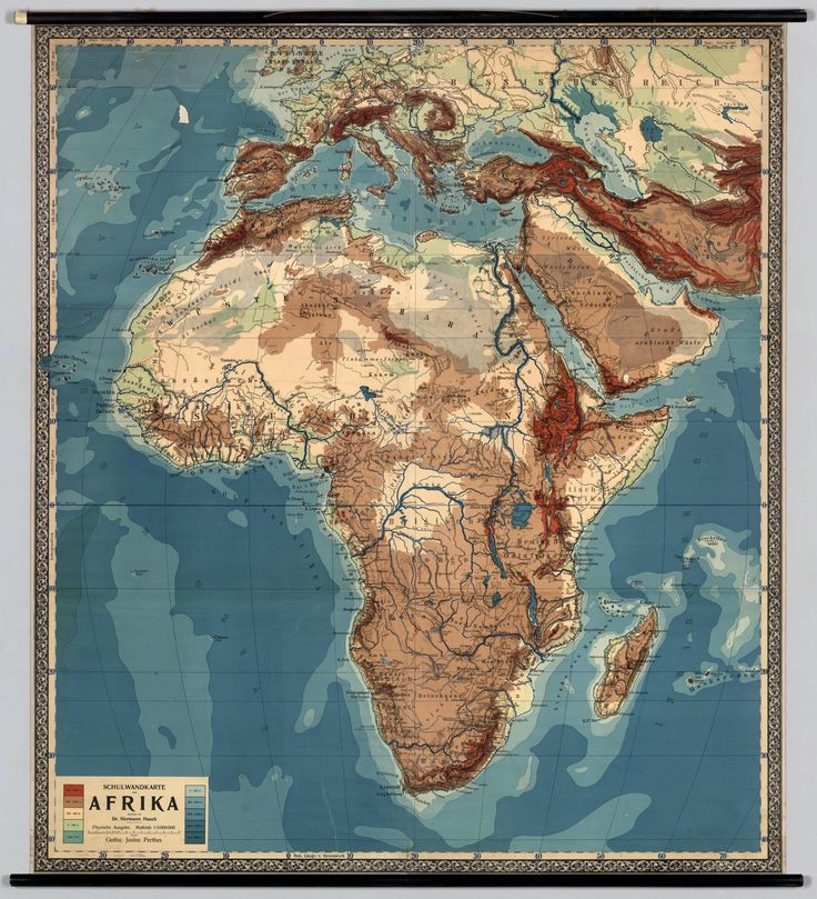 Physical Middle East Map%0A Physical Wall Map of Africa
