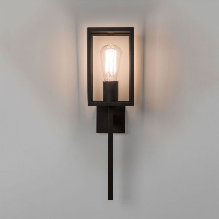 modern exterior wall lights uk. buy this @astrolighting coach 130 outdoor black rectangular wall light with clear glass ip44 e27 modern exterior lights uk i