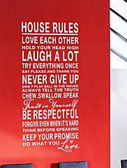 Phrases Wall stickers huisregels wasbaar muuroverdrukplaatjes
