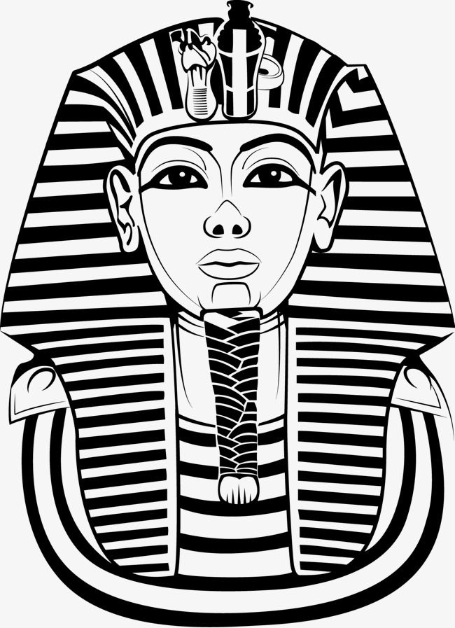 Egyptian Man Face Vector Image Png And Vector Egypt Tattoo Egyptian Drawings King Tut Tattoo