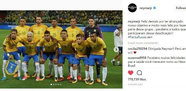 """""""Partiu Rússia"""". Neymar manda mensagem a companheiros de seleção"""