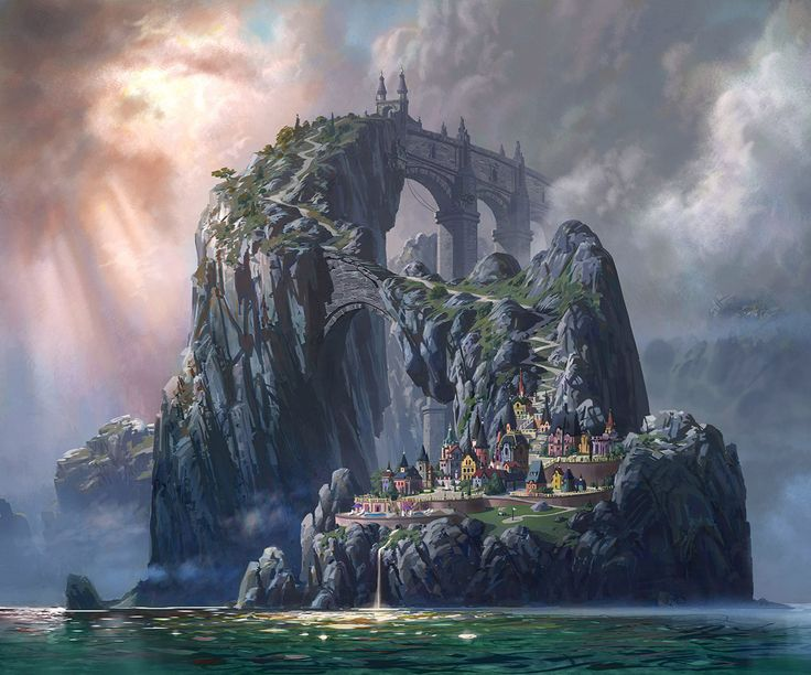 90 best images about fantasy landscape on pinterest for Architecture fantastique