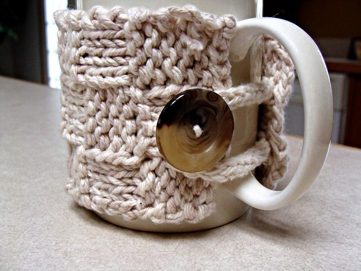 The 253 Best Knit Crochet Mug Hugs Images On Pinterest Knit