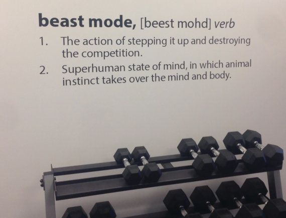 Beast mode definition decal on etsy