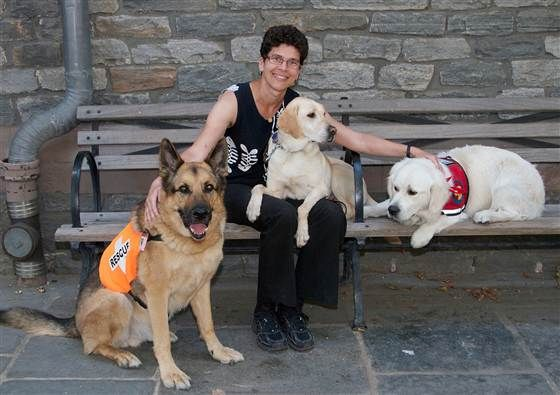 Veterinarian Cynthia Otto is pictured a decade after the 9/11 terrorist attacks.