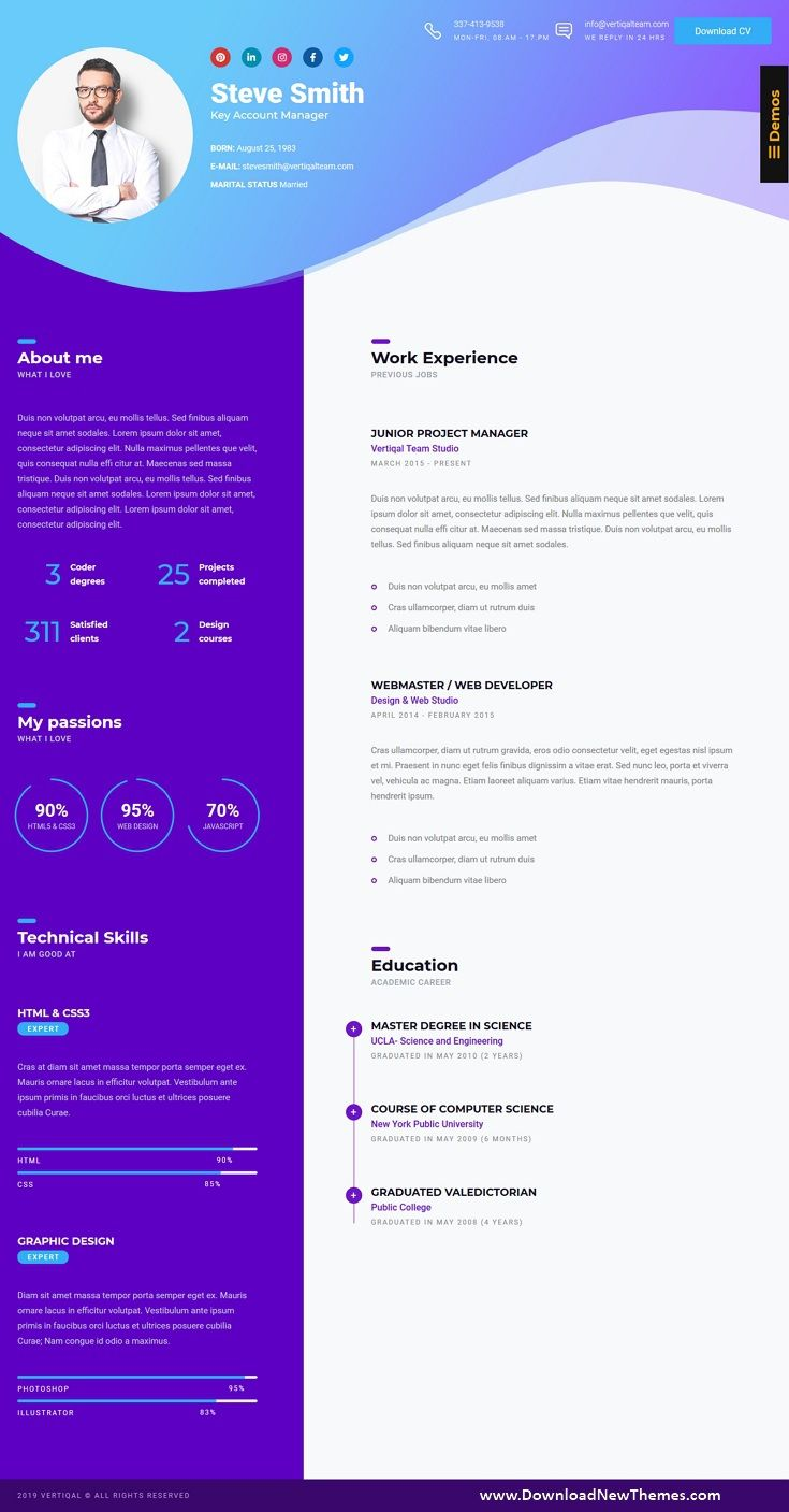 Business Cv Html5 Online Resume Personal Portfolio Online Resume Personal Portfolio Resume