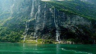 Noruega, Crucero, Fiordo, Paisaje