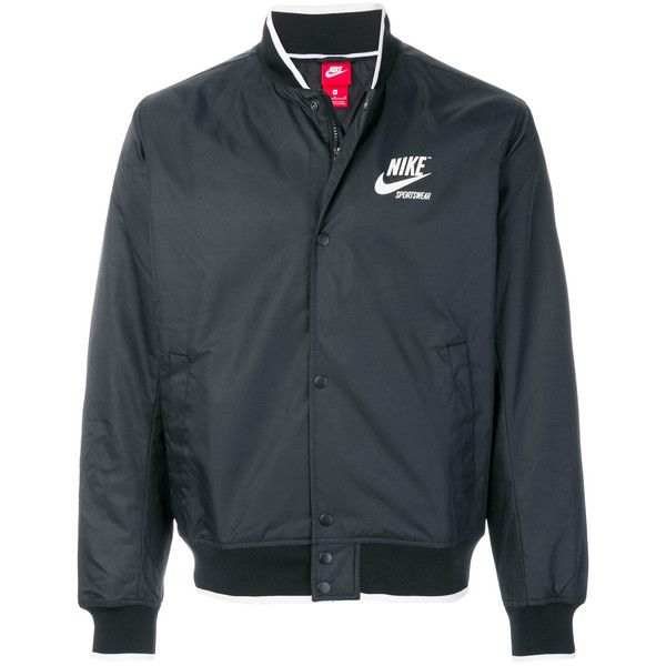 Nike sportswear lightweight jacket ($100) ❤ liked on Polyvore featuring men's fashion, men's clothing, men's activewear and men's activewear jackets