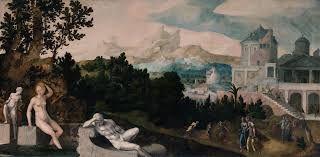 Jan Van Sorel - Landscape with Bathsheba