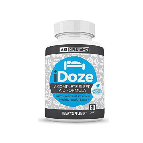 iDOZE Natural Adult Sleep Aid Supplement Formula, Fast Deep Restful Herbal Remedy, Non-Habit Forming, Melatonin, Magnesium L-Threonate, Valerian, Taurine, Passion Flower...60 Count Lifetime Guarantee  A.S.I. NUTRITION Is Dedicated To Developing & Creating The Best Natural OTC Sleep Aid On The Market  iDOZE Is A Non-Habit Forming, Non-Narcotic Natural Sleep Aid To Help Induce A Soothing Restful Sleep  TROUBLE SLEEPING -Valerian, Lemon Balm, Hops & Passion Flower Are Some Of Natures Best...