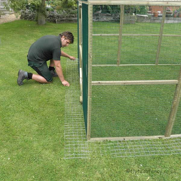 No dig skirt for small chicken runs for Chicken run for 6 chickens