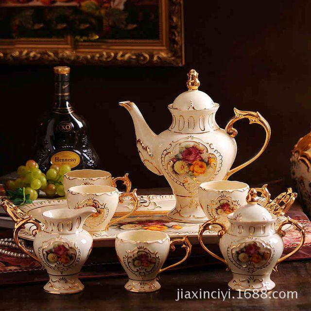 Новый C Кофе Ourui я. Английский послеобеденный чай фарфора цвета слоновой кости Роза англии Свадебные Подарки
