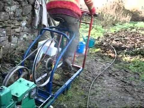 Pedal powered water pump. Good idea when we need water. Good exercise too