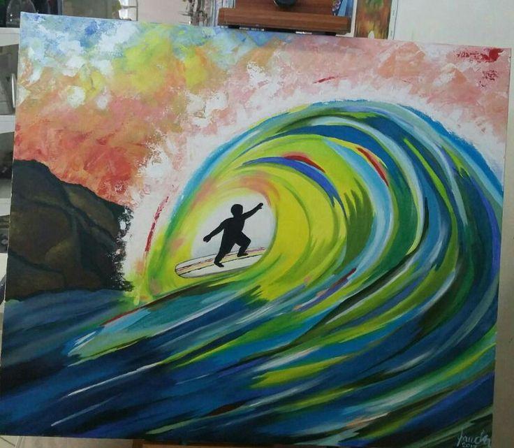 Acrílico sobre tela: A onda
