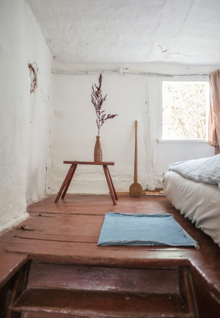 The upstairs crawl-space-sized bedroom.