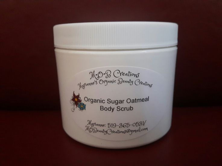 Organic Sugar Oatmeal Body Scrub