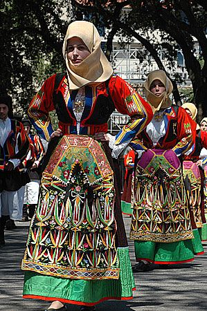 Traditional costume of Sardinia.