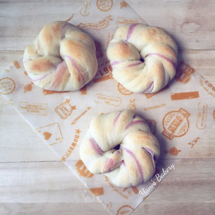 Homemade Twisted Plain & Purple Sweet Potato Bread are done!