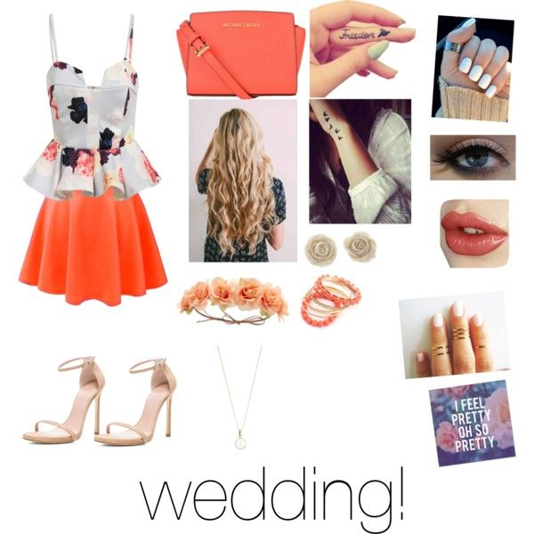 going to friends family wedding by vblodgett on Polyvore featuring polyvore fashion style Stuart Weitzman MICHAEL Michael Kors Accessorize Charlotte Russe