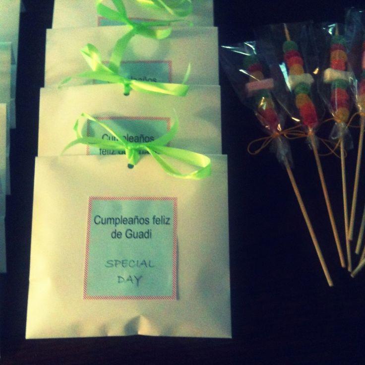 Fiesta dulce souvenir para cumplea os sorpresa bolsas - Sorpresas de cumpleanos ...