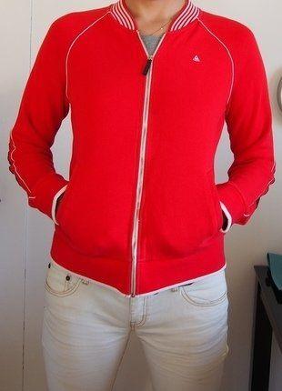 À vendre sur #vintedfrance ! http://www.vinted.fr/mode-femmes/teddy/29654724-blouson-teddy-femme-rouge-le-coq-sportif-taille-38