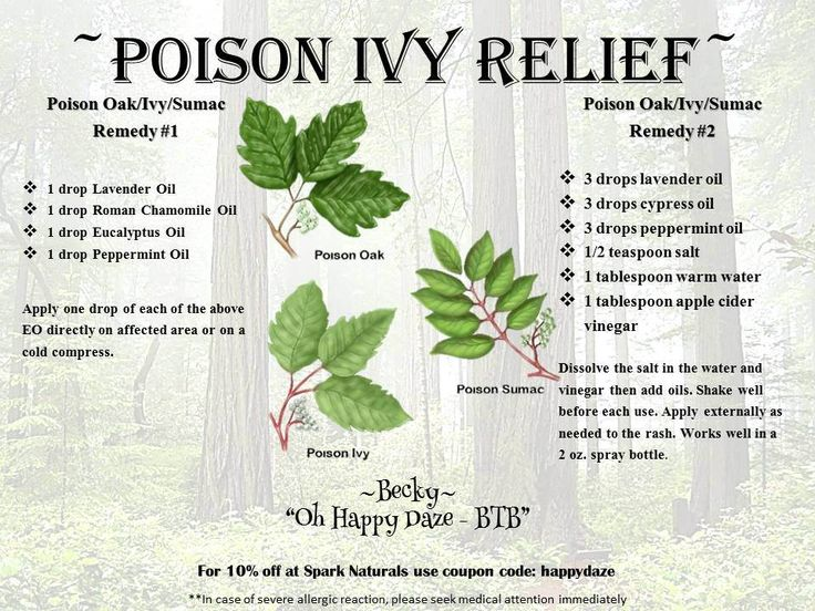 "Essential Oil Poison Ivy Relief   For 10% off at Spark Naturals use coupon code ""happydaze"""