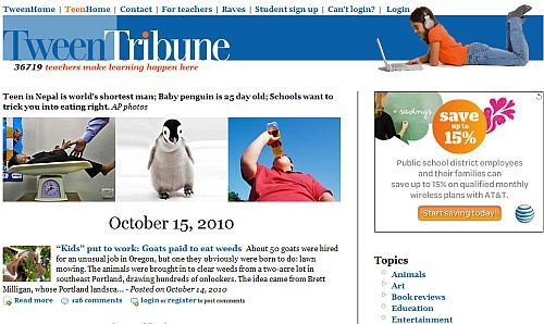 TweenTribune is topical news for kids written by kids