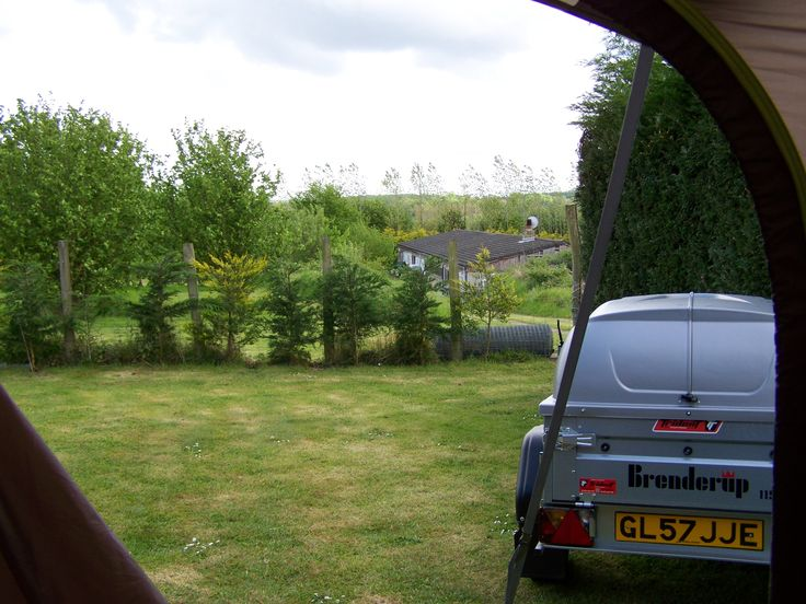 VIEW FROM MY CAMPER AWNING AT SUNNYSIDE FARM CHILHAM KENT