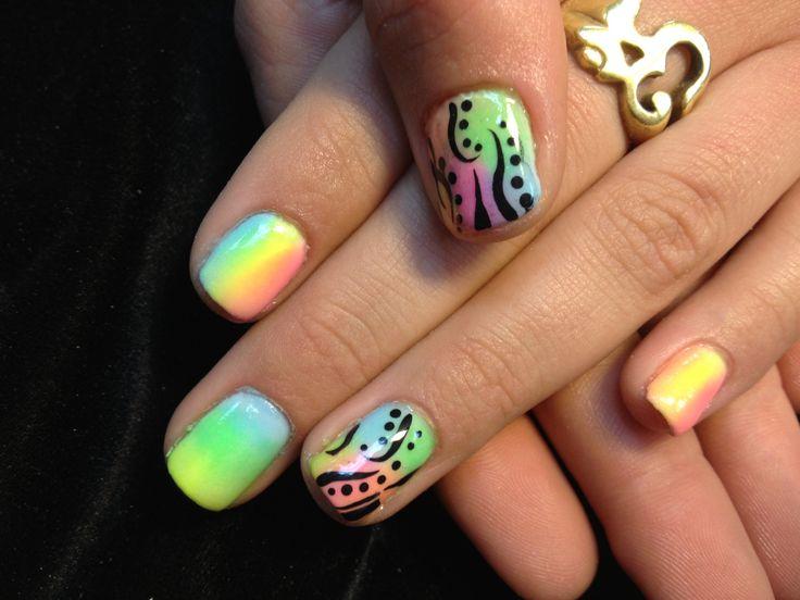 Neon Fun Nails 2013