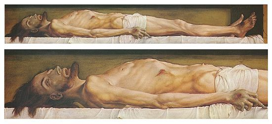 The Body of the Dead Christ in the Tomb (1520-2), Hans Holbein The Younger