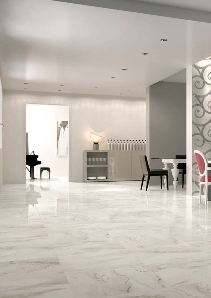Calacatta Tile Look So Nice House Tiles Grey Wall