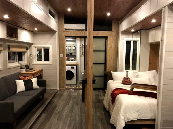 Couple's Expanding Tiny House on Wheels Almost Doubles in Space ...