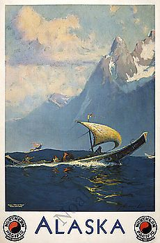 Alaska Vintage Train Travel Poster Repro 24x36 | eBay