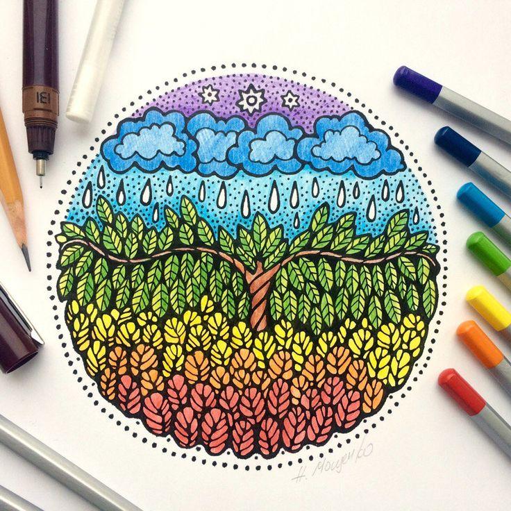 Наталия Мощенко: Вчерашний арт. Рисую от балды все, что в голову взбредёт. Доступны сейчас лишь минимально простые материалы для рисования: альбомные листы, цветные карандаши...  Рисую и жду, жду и рисую.