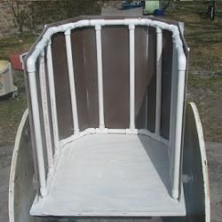 Free plans and pictures of PVC pipe projects.  Check out this chariot.  Josh.